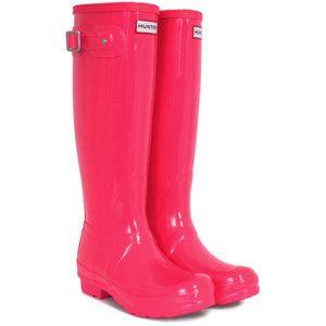 Hunter Cherry Pink Rainboots | Shoes | Pinterest | Hunters ...