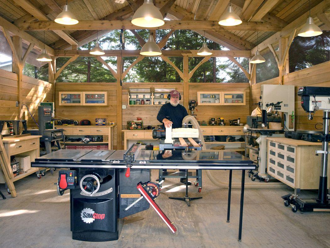 Timber Frame Work Shop Shop Tours Fine Woodworking Home Workshop Work Shop Building Woodworking Shop