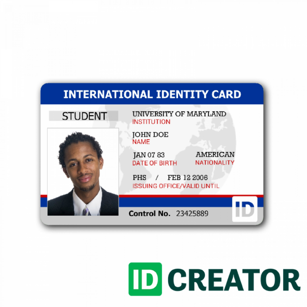 Stupendous School Id Card Template Ideas Illustrator Design Intended For Sample Of Id Card Template Id Card Template School Id Cards