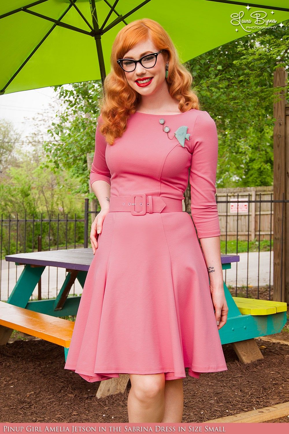 Laura Byrnes - Sabrina Dress in Coral Pink | Pinup Girl Clothing
