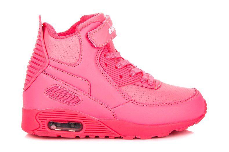 Hasby różowe Neonowe buty nad kostkę | Buty sportowe