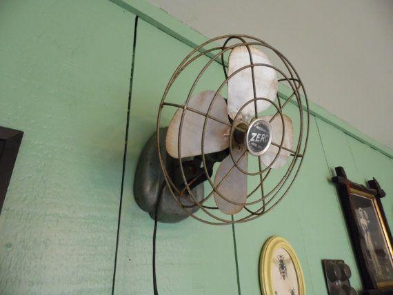 Vintage Zero Fan Wall Mount Fan Or Table Top Small By MadGirlRetro