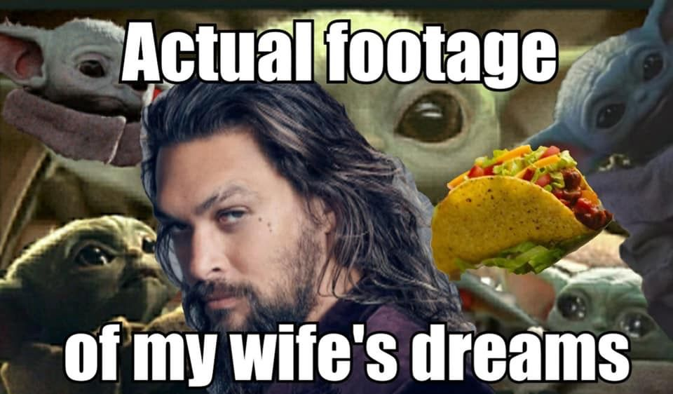 I Ll Probably Never Be A Wife And I D Change The Taco For Chipotle Bowl And Add A Few Men But Other Than Tht Facts In 2020 Yoda Bones Funny I Love