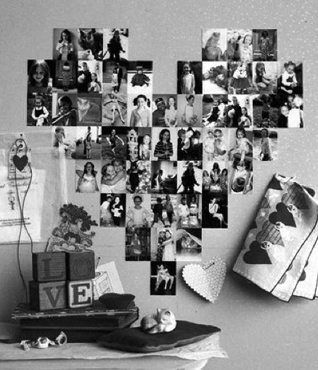Happy valentine fotocollage mit herz cute pinterest for Fotocollage ideen