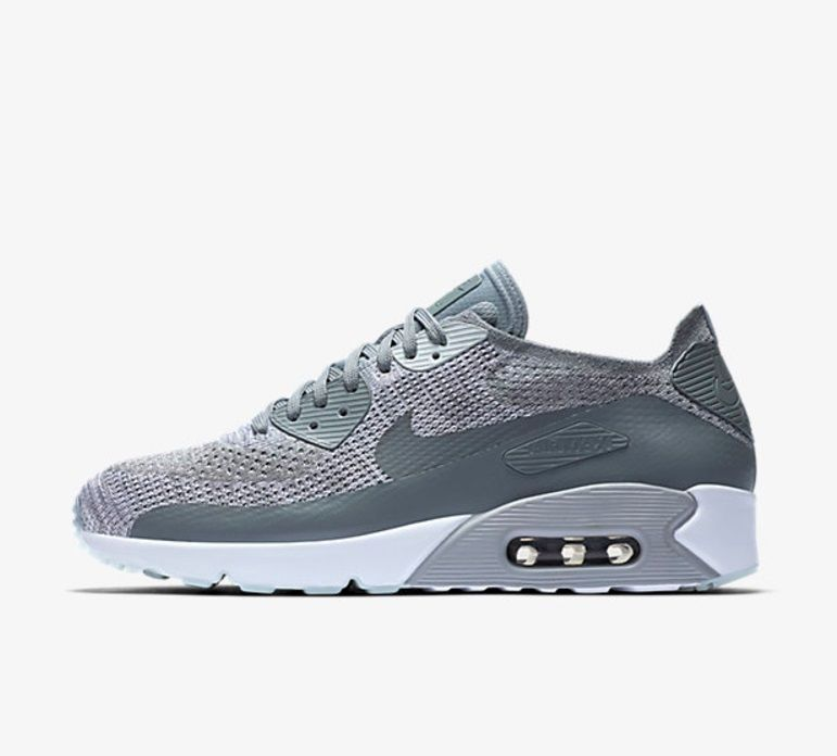 Nike air max 90 ultra 2.0 flyknit shoes mens sneakers platinum / cool grey
