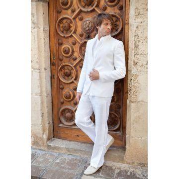 www.d-blanco.es trajes de lino novio ibicenco Manuel Pardo #shoponline #dblancomodaibiza