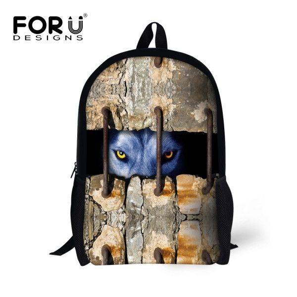 50156d69260 High Quality 16inch Children Backpacks Cool Animal Lion Printing ...
