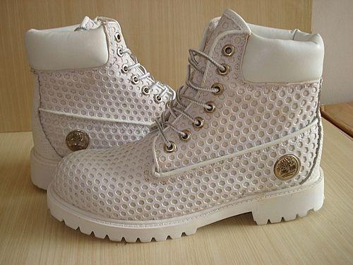 White Timberland Custom Boots Mens-$114