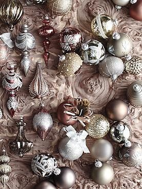 60 Pc Vintage Glamour Ornament Collection Glamorous Christmas Whimsical Christmas Colorful Christmas Tree