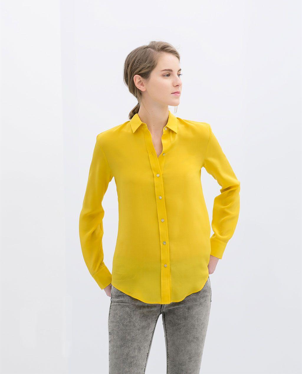 Bilde 1 fra LANGERMET BLUSE fra Zara