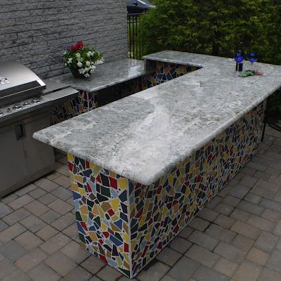 Tile Tuesday Outdoor Kitchen Poolside With Custom Mosaic Tile