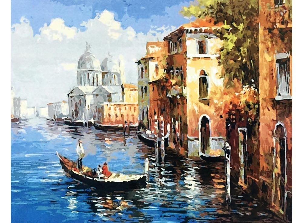 Картина по номерам «Венеция»   Водные краски, Расписанный ...
