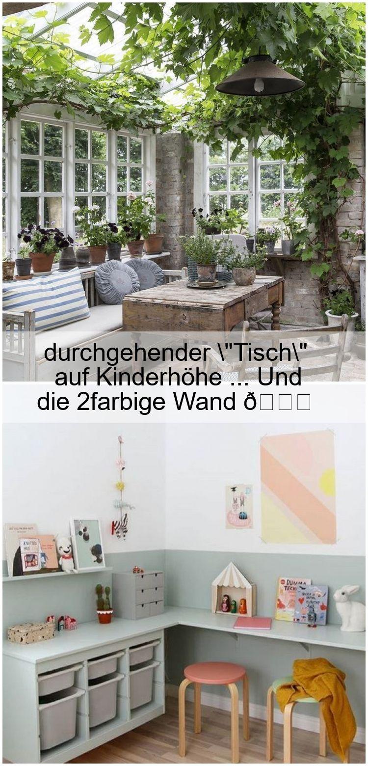 Durchgehender Tisch Auf Kinderhohe Und Die 2farbige Wand