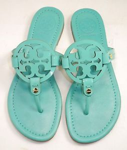e2c99bcc338bc3 Tory Burch  Miller  Patent Leather Sandal Turquoise Size 6M