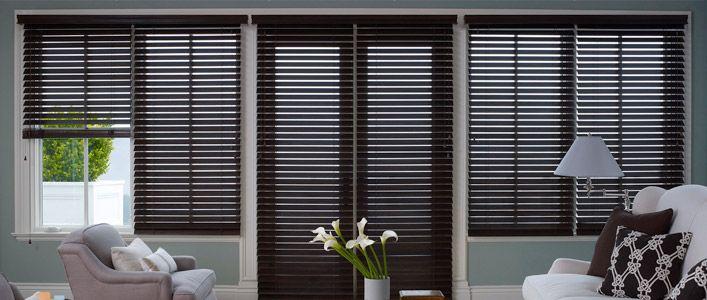Window Blinds Vertical Fabric Panels Horizontal Custom Wood Blind
