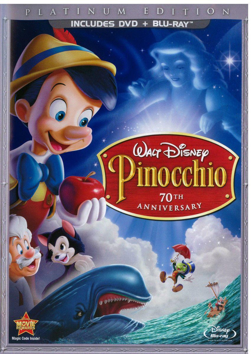 Pinocchio Blu Ray Dvd 3 Disc 70th Anniversary Platinum Edition