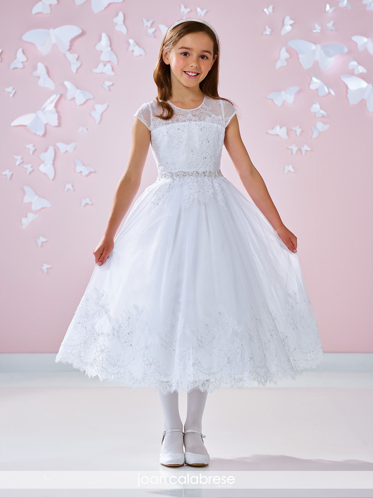 Lace and Tulle Communion Dress