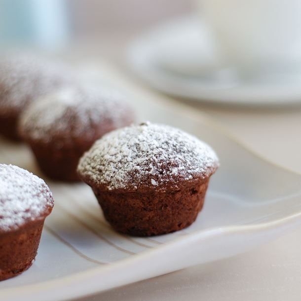 Mini Moelleux Au Chocolat Recette Petits Gateaux Chocolat