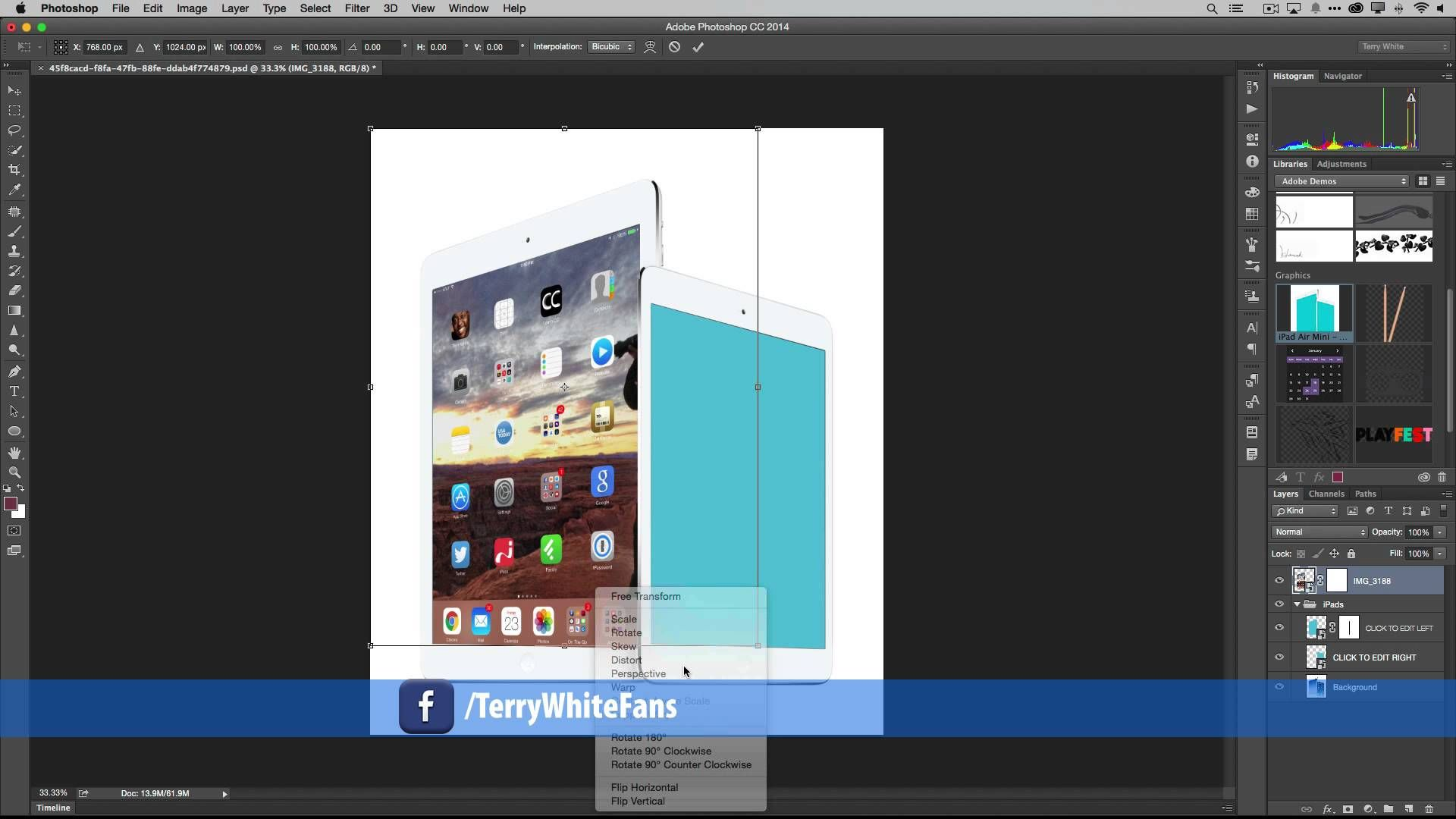 How to Build Templates in CC using Smart Objects