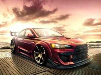 Mitsubishi Lancer Tuning Hd Wallpaper Voiture De Rallye Voiture