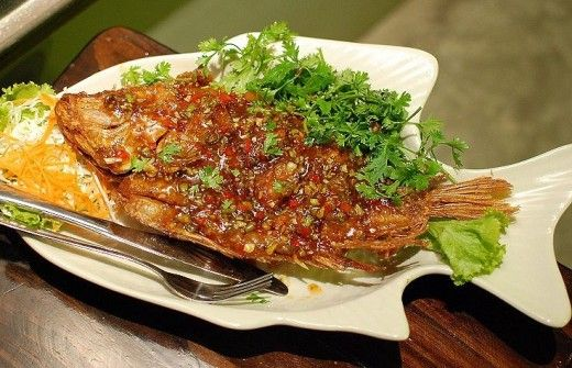 Deep fried thai fish dish made with a sweet spicy tangy for Thai fish recipe