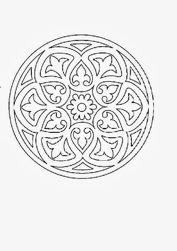 Mandalas Para Pintar: mandalas para pintar | patrones mosaicos ...