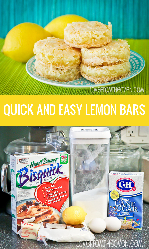 Quick and easy lemon bars, such a great summertime dessert.