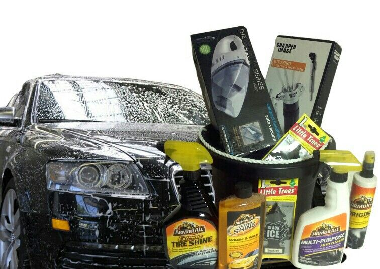 Car wash accessories gift basket for fathers day made by