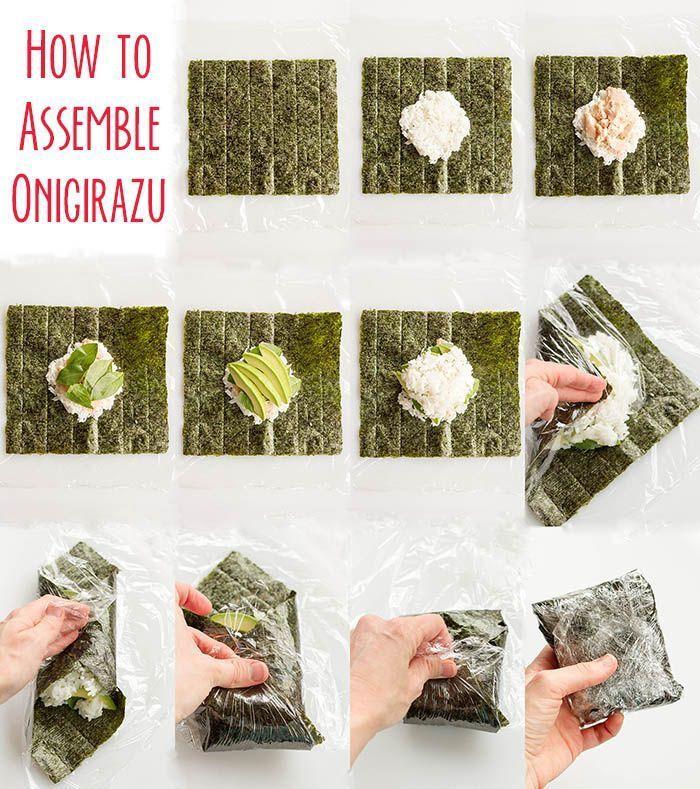 Avocado Basil (T.A.B.) Onigirazu - Picnicking with bentos   - Japanische Küche (home edition) -Tuna Avocado Basil (T.A.B.) Onigirazu - Picnicking with bentos   - Japanische Küche (home edition) -
