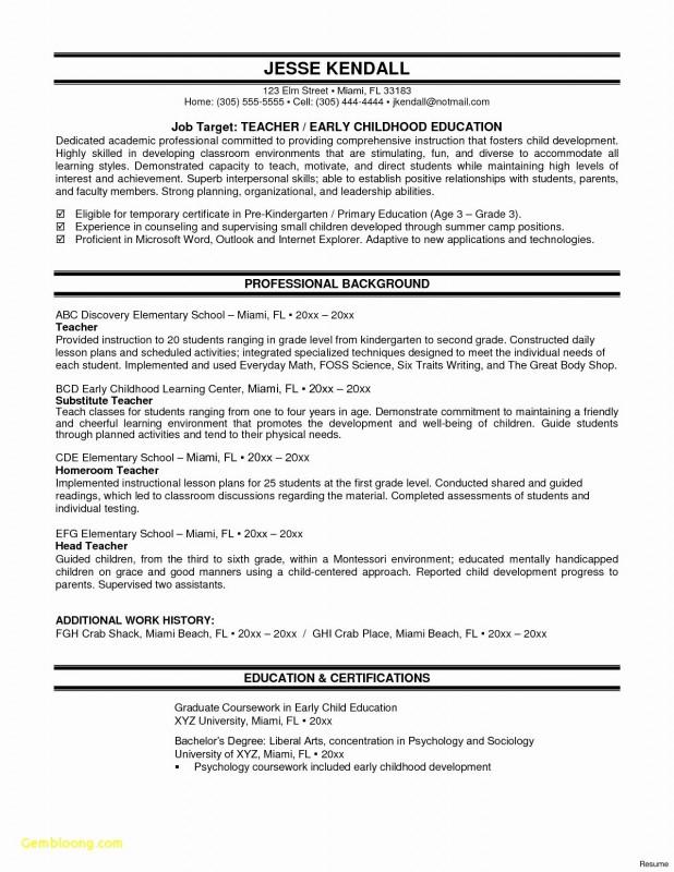 Teacher Of The Month Certificate Template Unique Sample Resume For Teacher Fresh Graduate New Awesom Math Lesson Plans Math Centers Kindergarten Teacher Resume