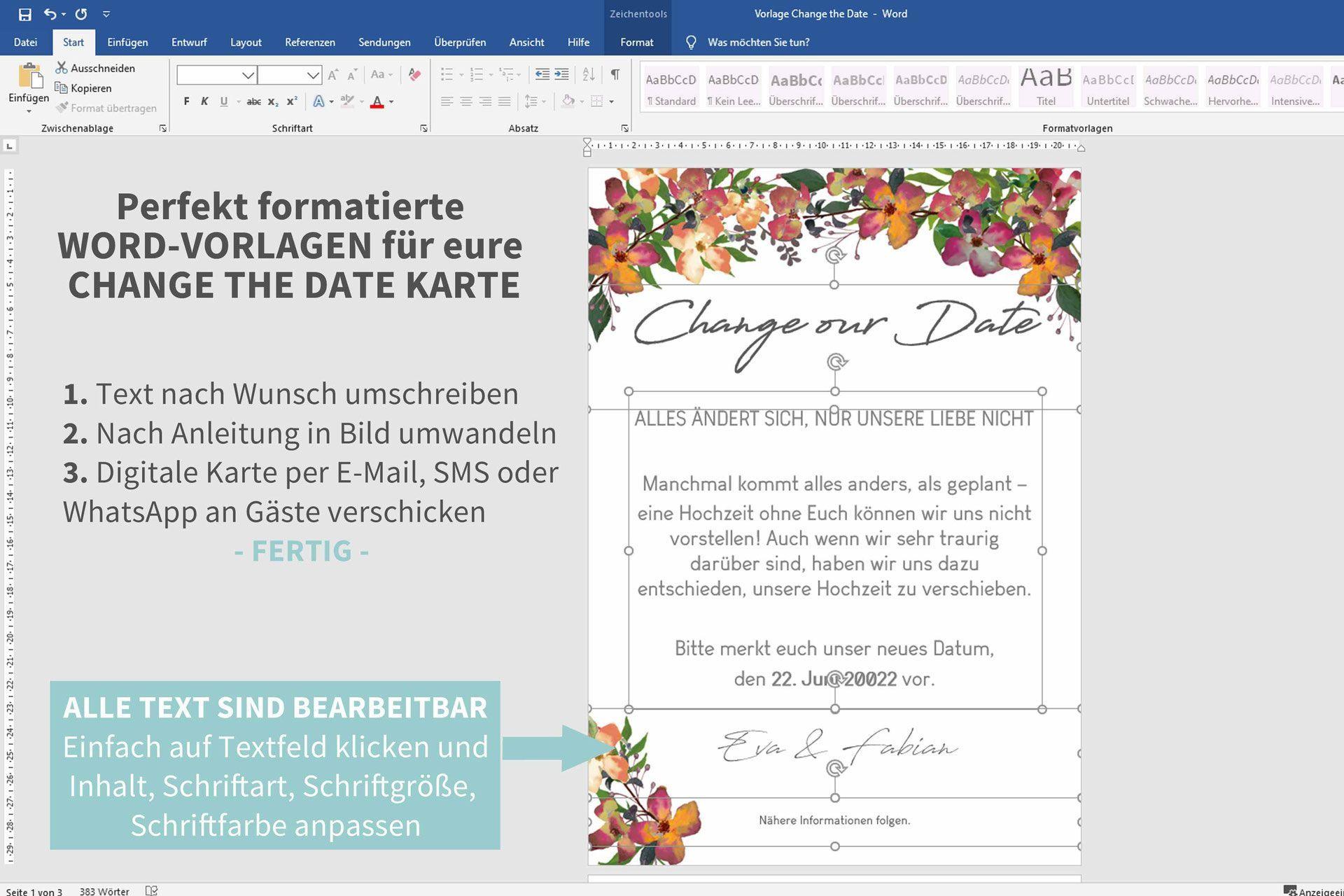 In 3 Schritten Zur Digitalen Change The Date Karte Diy Hochzeit Planen Diy Hochzeit Basteln Hochzeit Planen