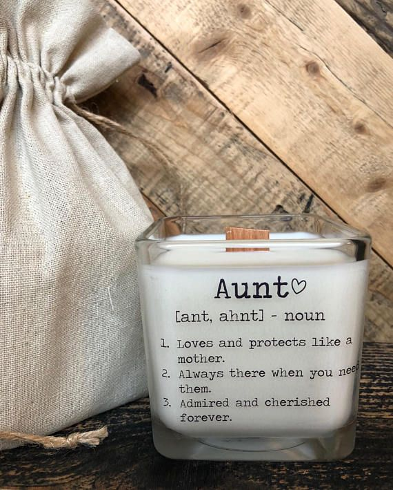 Auntie and Uncle Pregnancy Announcement Gift Candle