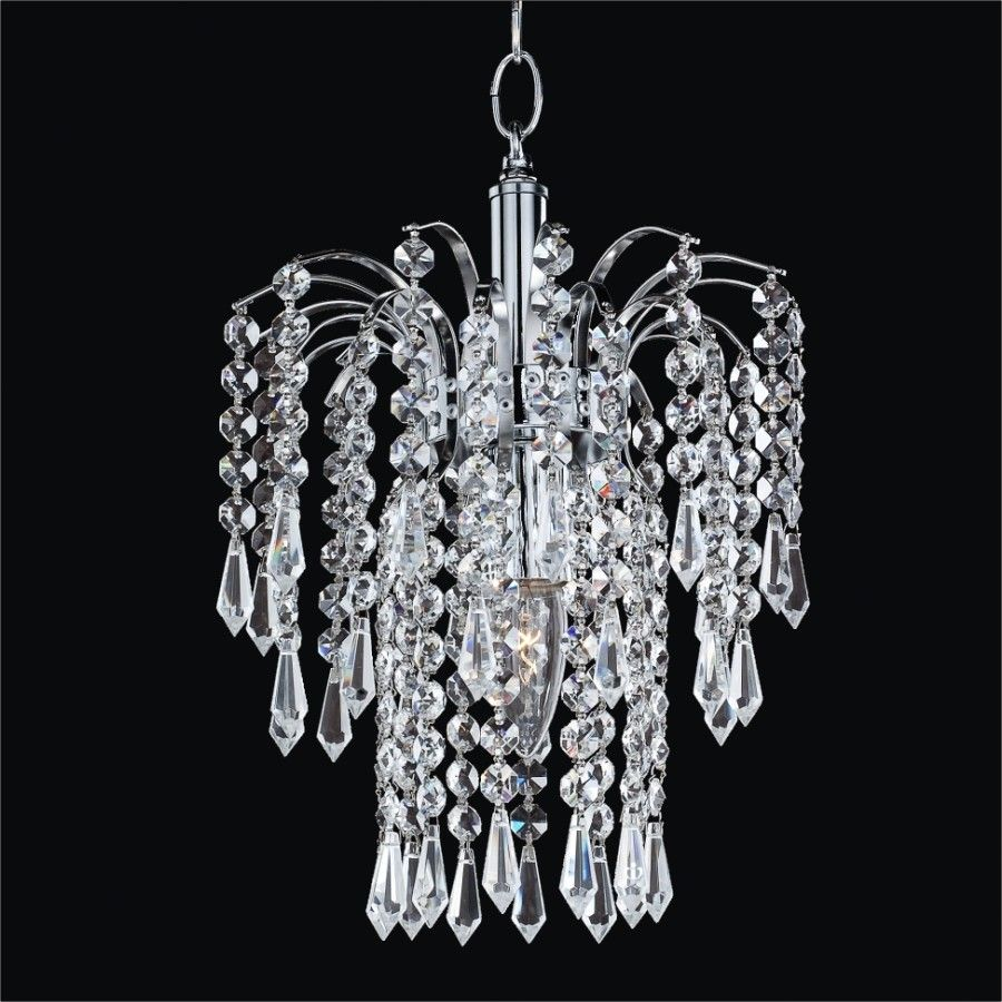 glow lighting chandeliers. Cascade 1-Light Crystal Pendant Glow Lighting Chandeliers C