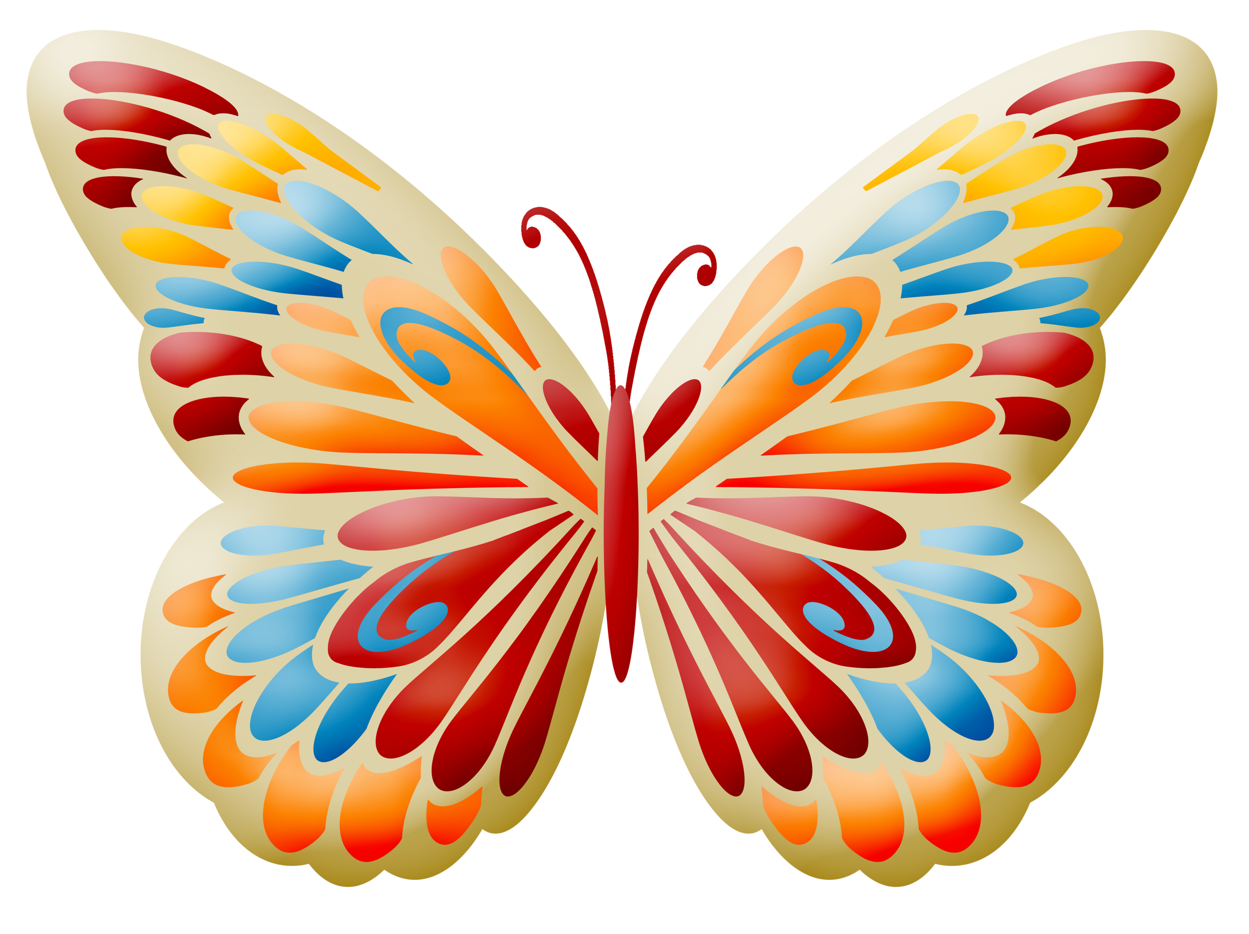 Dibujos De Mariposas Infantiles A Color: Mariposas Infantiles