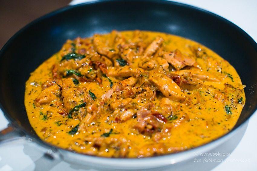 Lchf Pasta Med Kyckling Mozzarella Och Soltorkade Tomater Recept Recept Matrecept Och Foodies