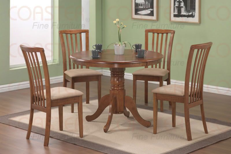 Genial Brannan 5 PC Dining Set In Maple Finish (Table U0026 4 Chairs) By Coaster