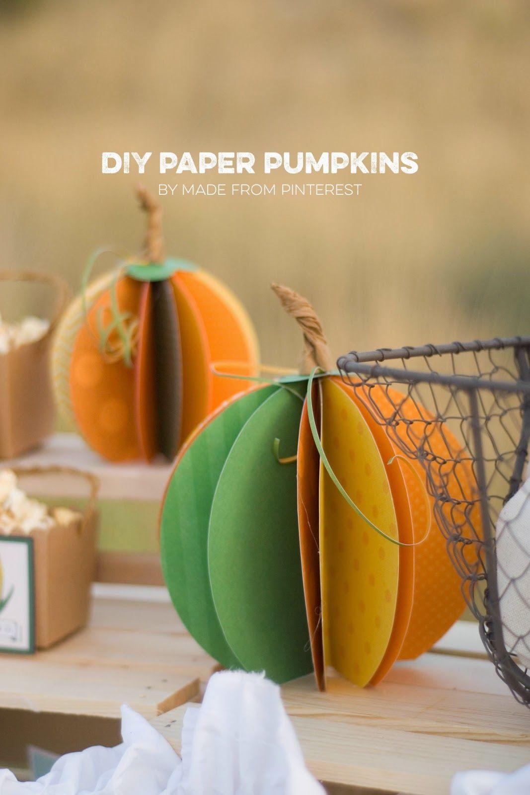 The Party Hop: Autumn Market - DIY Pie/Paper Pumpkins/Banner