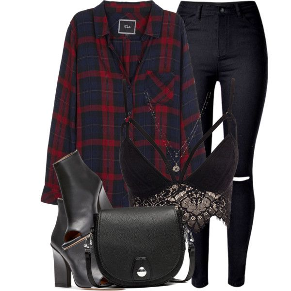In Plaid by monmondefou on Polyvore featuring Rails, Club L, WithChic, rag & bone and LC Lauren Conrad