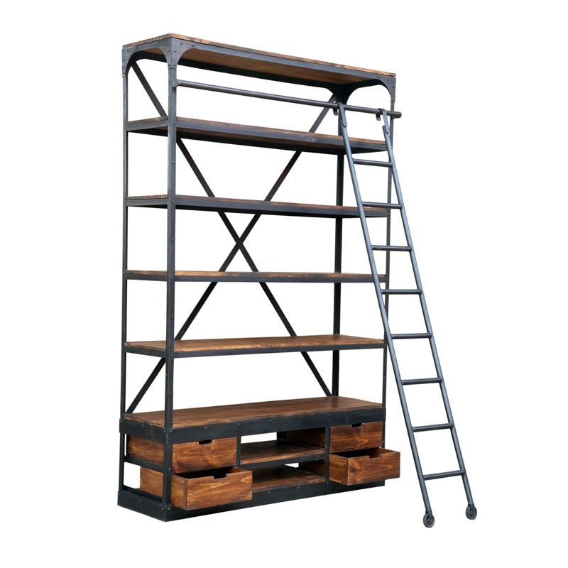 low priced 2a101 d98e3 Industrial shelf unit with ladder | Retail Display | Andy ...