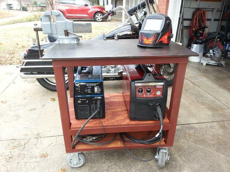 Diy Welding Table And Cart Ideas Garage Workshop Diy
