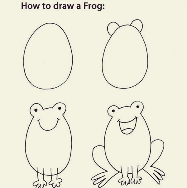 How To Draw Cute Animals 40 Examples Easy Drawings Drawing Lessons