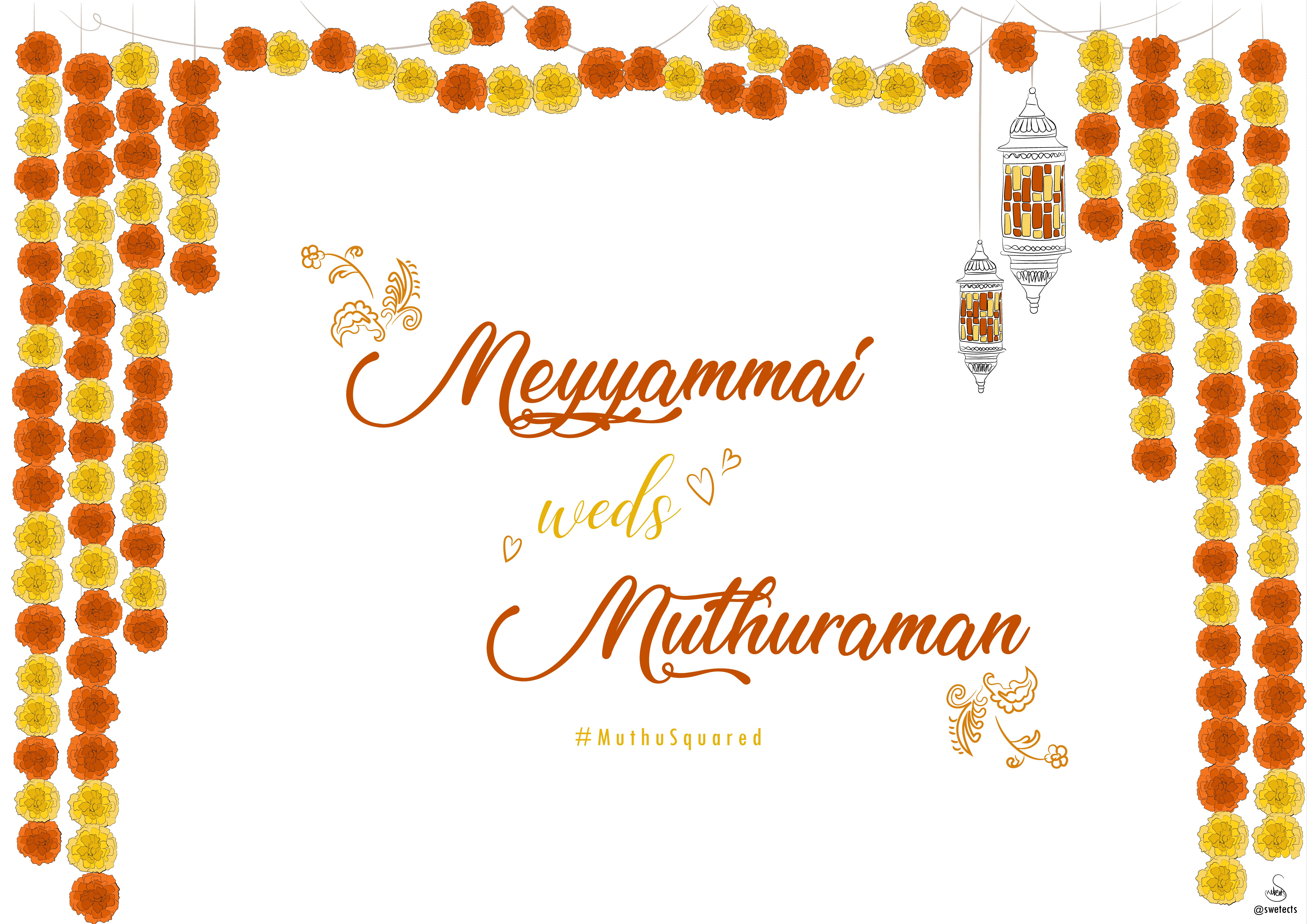 south indian wedding banner by swetects indianwedding banner southindian decoration i indian wedding invitation cards wedding banner design wedding cards pinterest