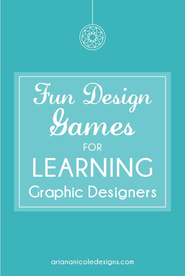 Fun Design Games for Learning Graphic Designers - Ariana Nicole Designs #graphicdesign