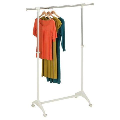 Clothes Drying Rack Target Honeycando Adjustable Height Garment Rack  White  Garment Racks