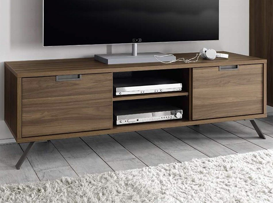 Lovely Modern TV Stand Palma Walnut By LC Mobili   $459.00
