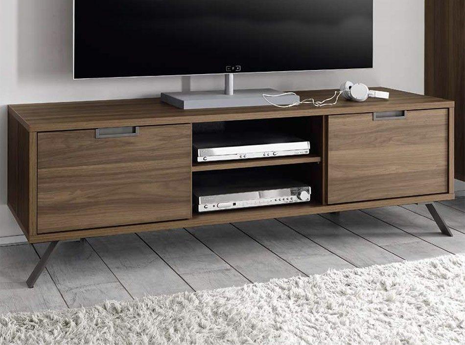 Credenza Moderna Palma : Modern tv stand palma walnut by lc mobili lcd panels