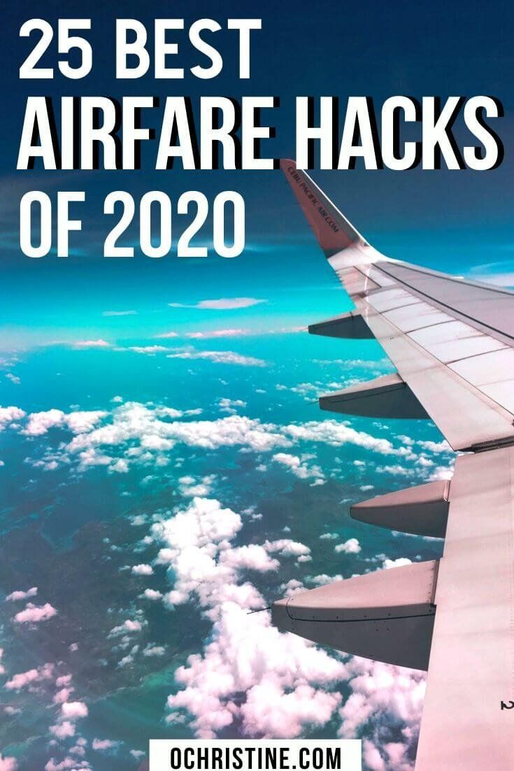 Are you always looking for the cheapest flights? Sharing my 25 Airfare Hacks for Finding the Best Fares and Cheap Flight Deals in 2020. I've compiled an epic list of airfare best practices, affordable flight tips, and budget travel advice to help you get great flight deals this year. #cheapflights #travelhack Travel Hacking | Flight Hacking | How to find cheap flights | Best Airfare hacks | Cheap Airfare