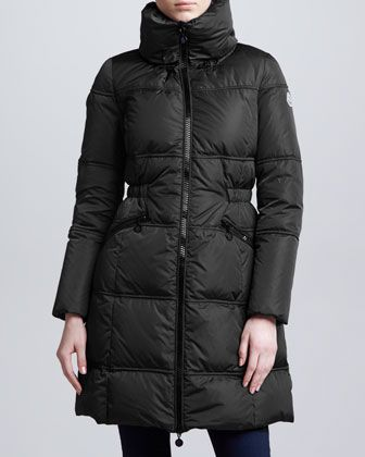 Long Puffer Coat, Black by Moncler at Neiman Marcus.