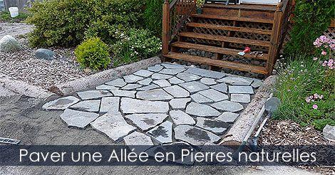 Paver une allée de jardin avec des pierres - Comment paver une allée ...