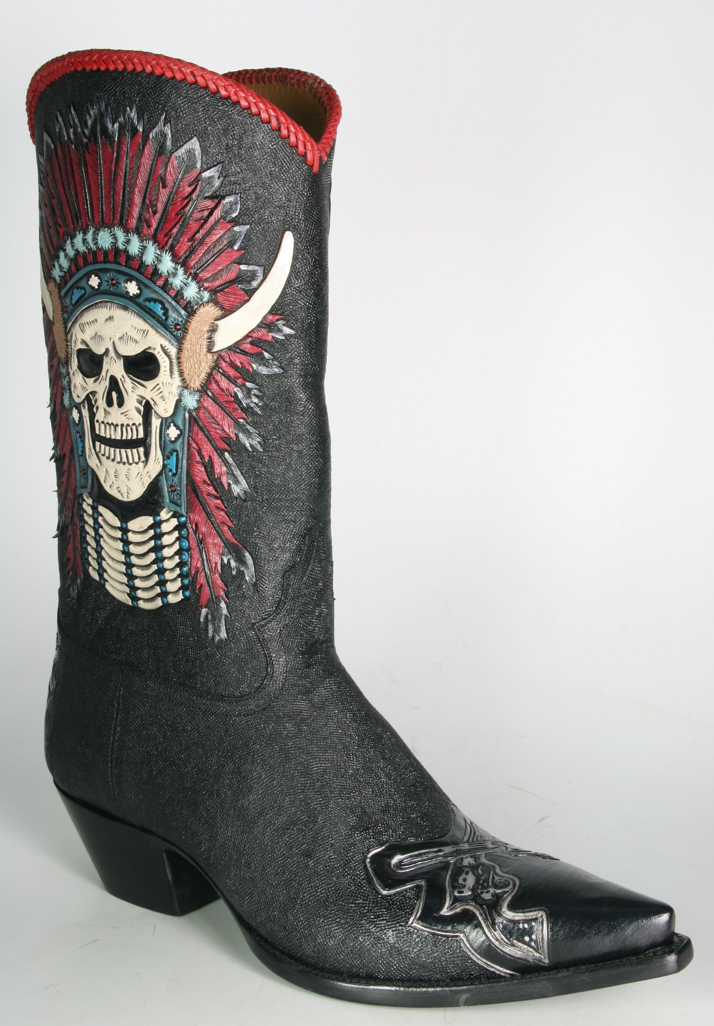 Cowboy Boots with skulls for men | By Boots 5757 Caborca